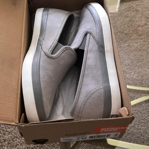 Sperry Shoes | Seaside Suede Grey Size
